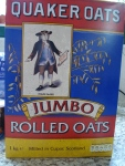 I love the way that the Quaker Oat boxes look here