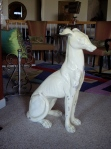 My new dog statue!