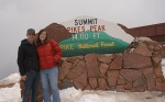 Tiff and G at the top of Pikes Peak Mountain!